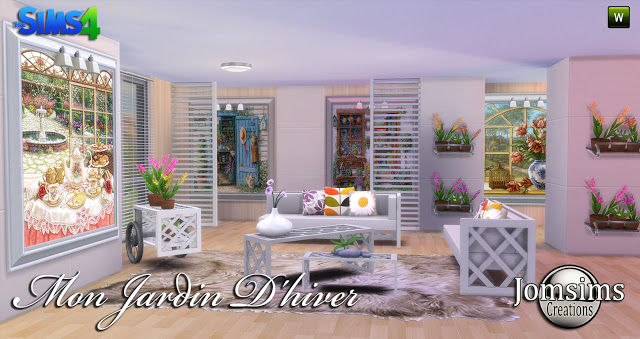 Sims 4 My winter garden at Jomsims Creations