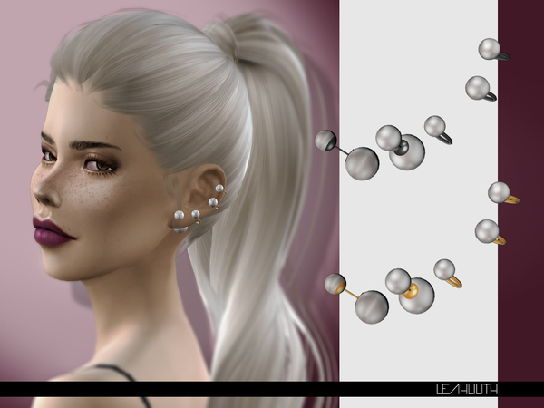 sims 3 earrings perla earrings by leahlilith at tsr 187 sims 4 updates 1615