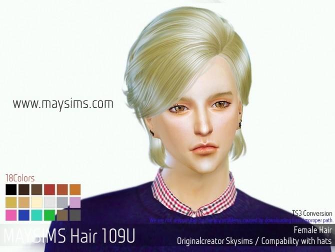 Sims 4 Hair 109 U (Skysims) at May Sims