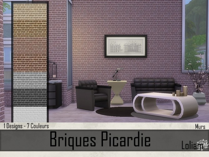 Picardie brick walls by Loliam at Sims Artists image 8217 670x503 Sims 4 Updates
