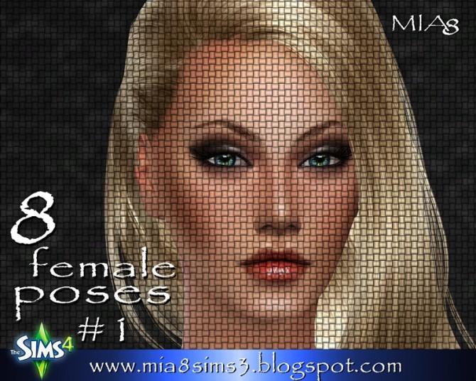 Sims 4 8 female poses#1 by Mia Mirra at MIA8