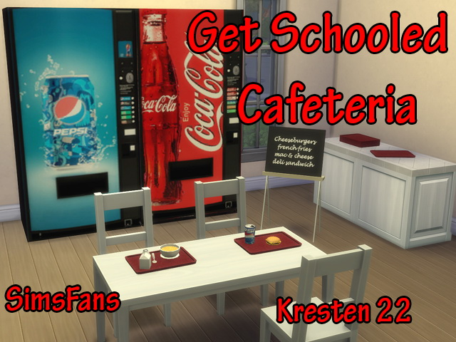 Get Schooled Cafeteria by Kresten 22 at Sims Fans image 833 Sims 4 Updates