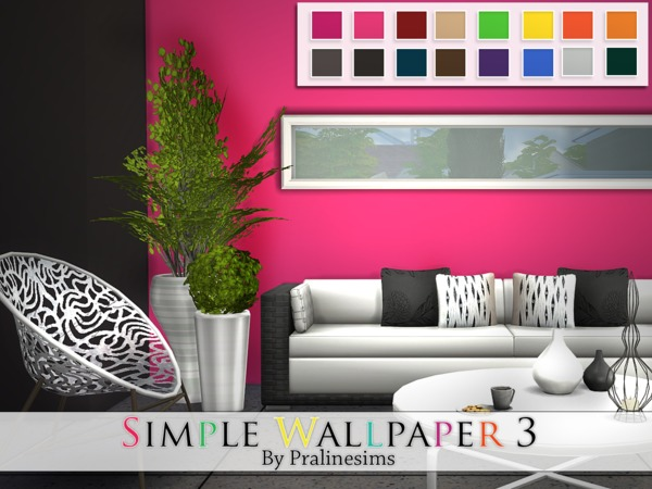 Simple Wallpaper 3 By Pralinesims At Tsr 187 Sims 4 Updates