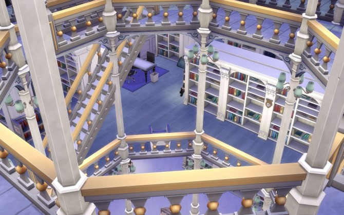 Sims 4 National Library no CC by Glouryian at Mod The Sims
