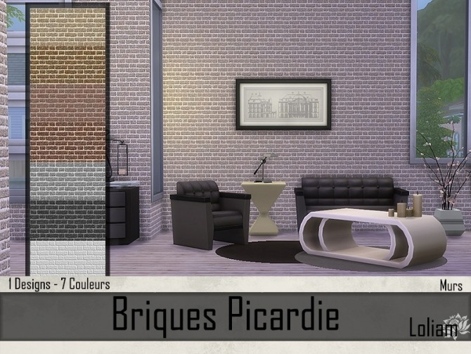 Picardie brick walls by Loliam at Sims Artists image 8414 670x503 Sims 4 Updates