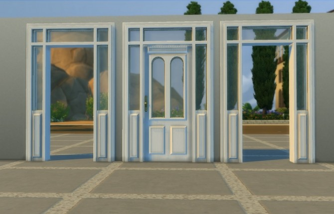 Sims 4 Lattice Door and Arch by AdonisPluto at Mod The Sims