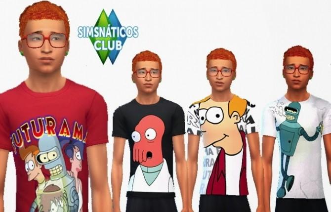 Sims 4 Futurama shirts at Nathys Sims