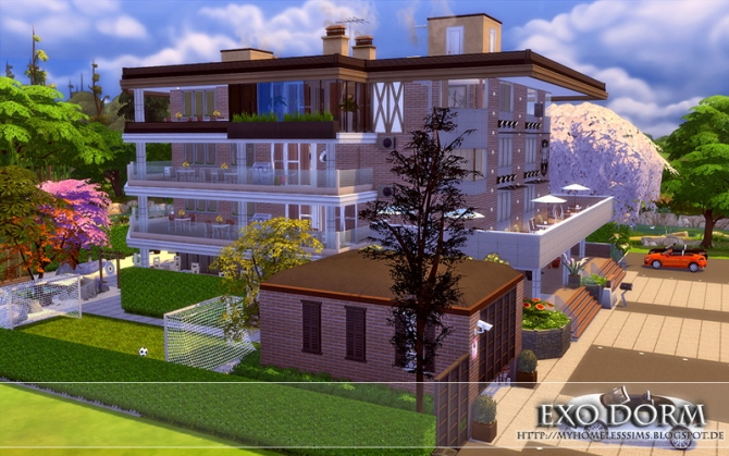 Kpop EXO Dorm at Homeless Sims » Sims 4 Updates