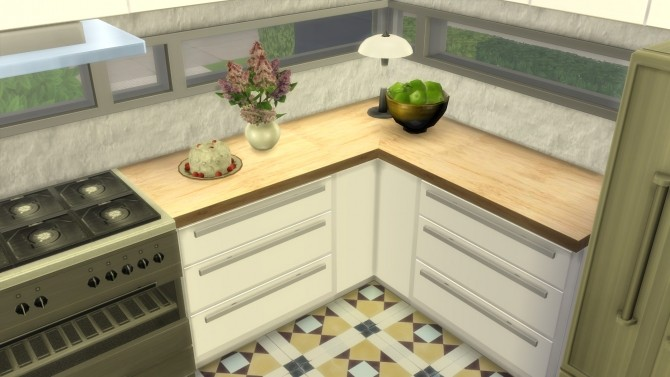 Sims 4 Kitchen from Perfect Patio Stuff by Wallpaper at Mod The Sims