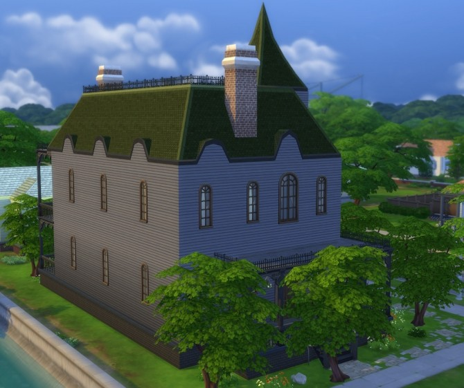 Sims 4 Haunted Mansion by bonensjaak at Mod The Sims