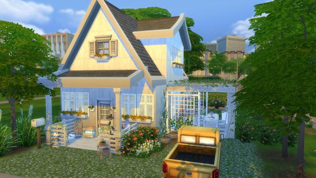Sims 4 White Cottage at Dinha Gamer