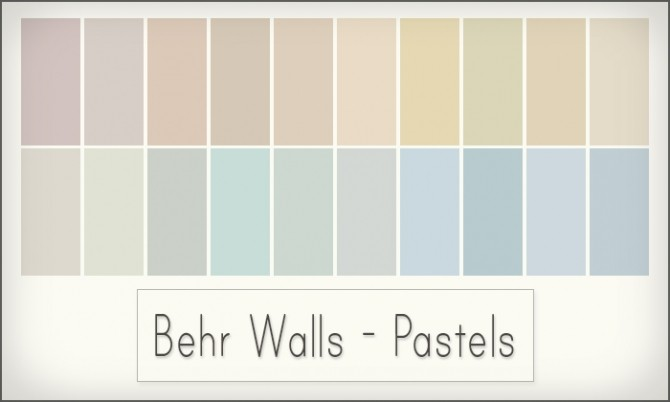 Sims 4 Behr wall add ons at Simsrocuted