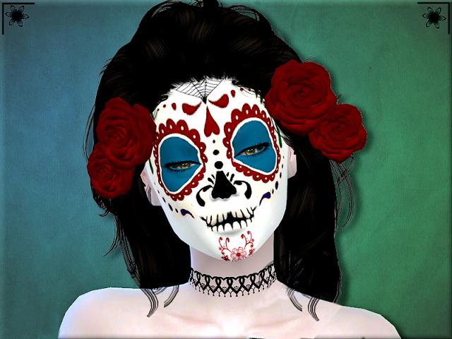 Sims 4 Dia De Los Muertos Makeup by Margie at Sims Addictions