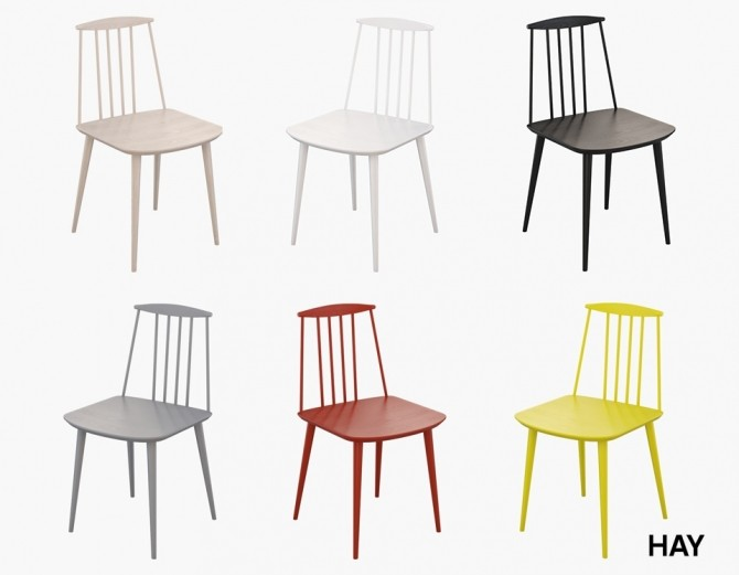 Sims 4 J77 Chair by Hay at Meinkatz Creations