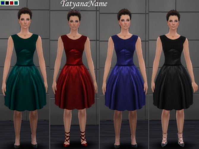 Sims 4 Leather dress at Tatyana Name