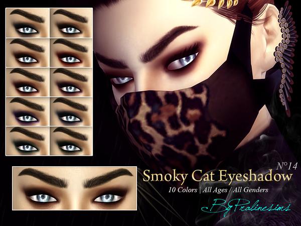 Smoky Cat Eyeshadow N14 by Pralinesims at TSR image 918 Sims 4 Updates