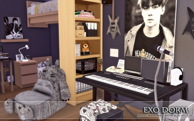 Kpop Exo Dorm At Homeless Sims 187 Sims 4 Updates