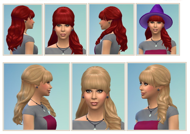 Sims 4 Teased HalfUp Hair at Birksches Sims Blog