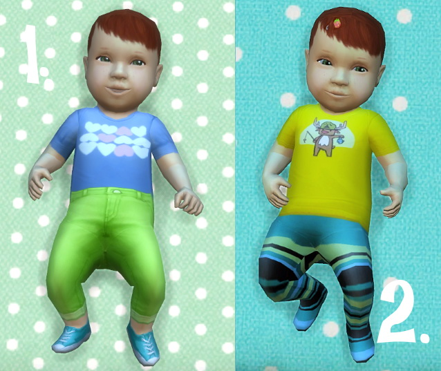 Sims 4 Baby Overrides: Set 4 Light Skin/Girl + Red Hair at Budgie2budgie