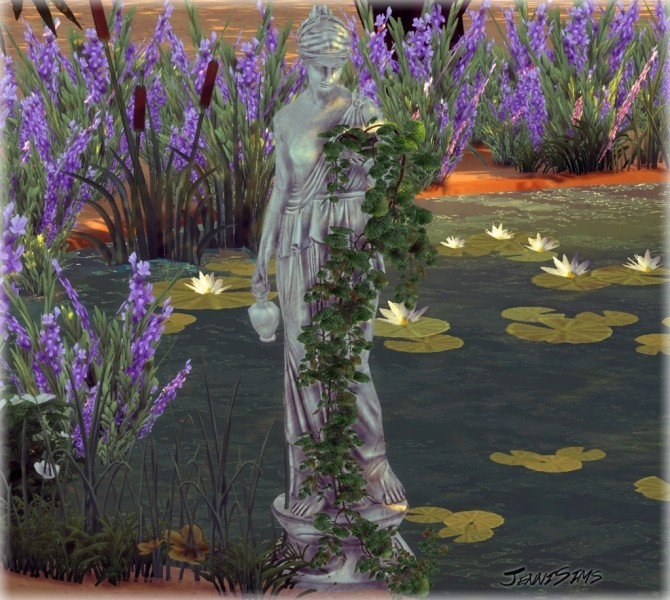 Decoration Greek statue with plants at Jenni Sims image 955 670x600 Sims 4 Updates