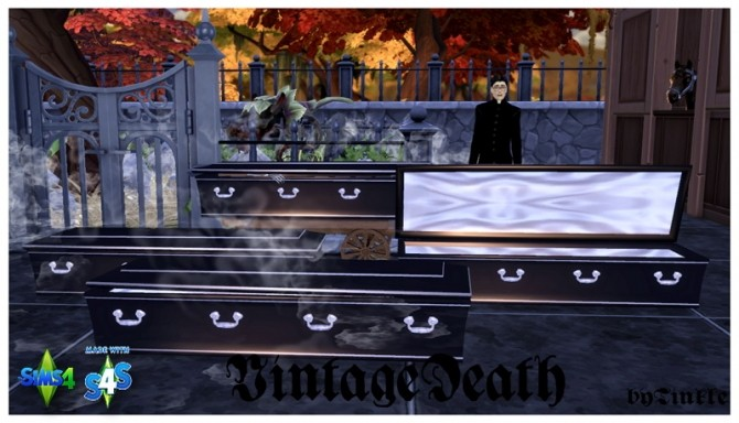 Sims 4 Vintage Death set at Tinkerings by Tinkle