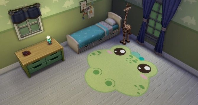 Sims 4 Animal Rugs for kids by Soff 32 at Mod The Sims
