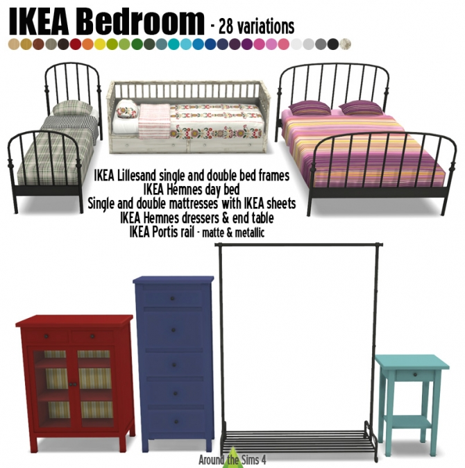 Ikea like bedroom by sandy at around the sims 4 sims 4 updates - Customiser commode ikea ...