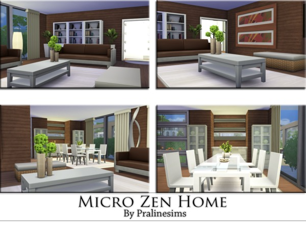 Sims 4 Micro Zen Home by Pralinesims at TSR