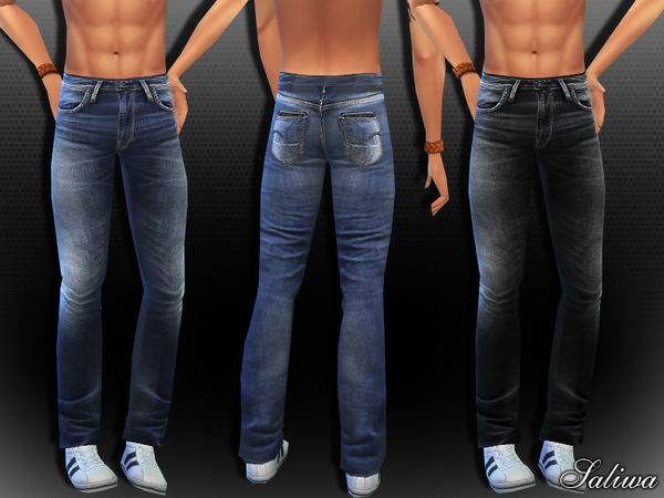 Sims 4 Men Realistic Jeans by Saliwa at TSR