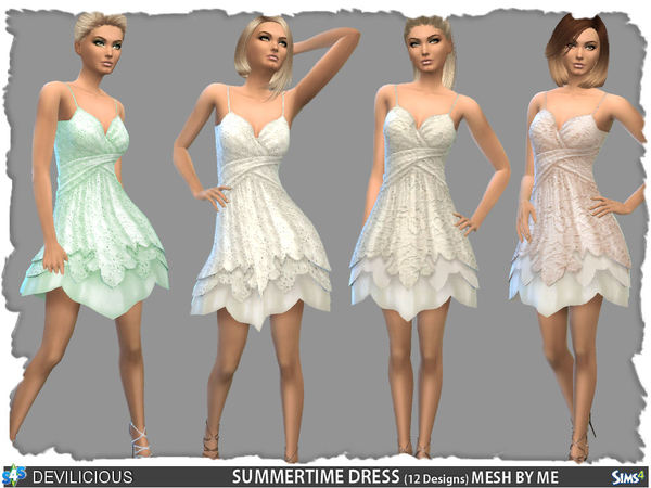 Sims 4 SummerTime Dress by Devilicious at TSR