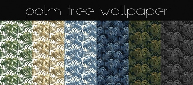 Sims 4 Palm tree wallpaper collection at Hvikis