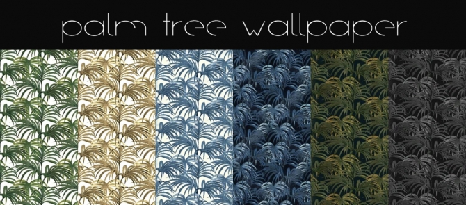 Palm Tree Wallpaper Collection At Hvikis 187 Sims 4 Updates