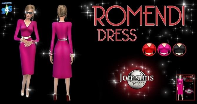 REVISTA HIGH HEELS & ROMENDI dress at Jomsims Creations image 10127 670x354 Sims 4 Updates