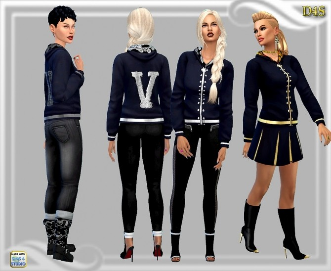 V hoodie at Dreaming 4 Sims image 1017 670x548 Sims 4 Updates