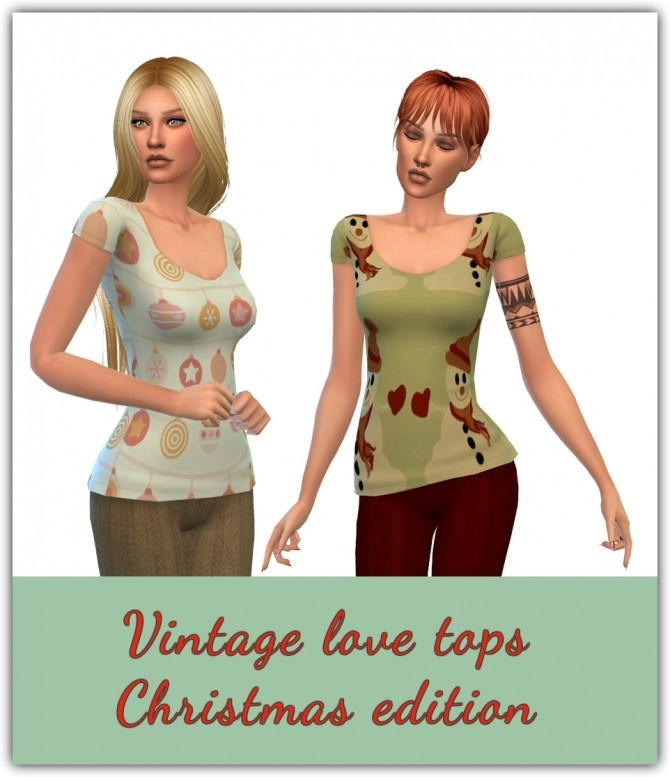 Vintage Love Tops Christmas Edition at Maimouth Sims4 image 10214 670x777 Sims 4 Updates