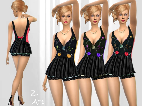 Sims 4 Coquetry sleepwear outfit by Zuckerschnute20 at TSR