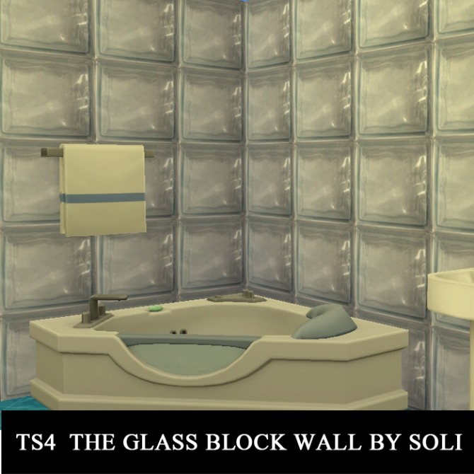 The Glass Block Wall At Soli Sims 4 187 Sims 4 Updates