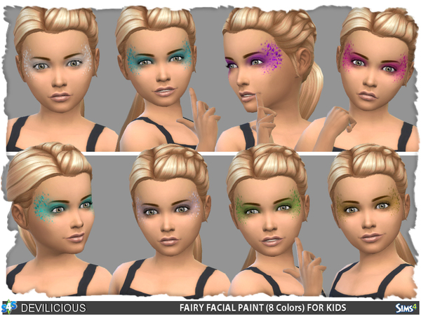 Fairy Face Paint for Kids by Devilicious at TSR image 105 Sims 4 Updates