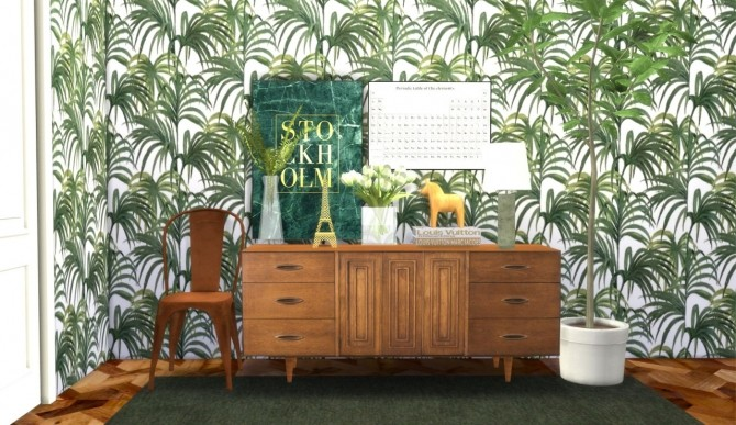 Palm tree wallpaper collection at Hvikis image 1056 670x387 Sims 4 Updates