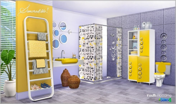 Youth Flooding Bathroom At Simcredible Designs 4 187 Sims 4
