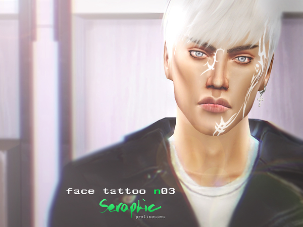 Seraphic Tribal Face Tattoo N03 By Pralinesims At Tsr