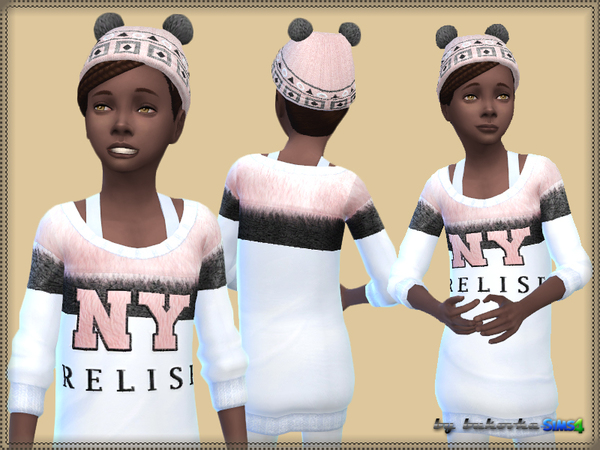 Set: Hat Pompoms and Dress by bukovka at TSR image 11106 Sims 4 Updates