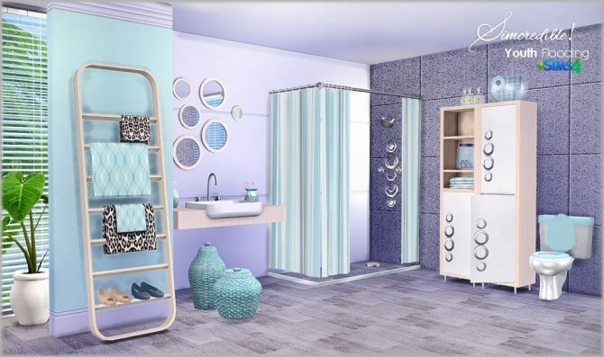 Youth flooding bathroom at simcredible designs 4 sims 4 for Bathroom ideas sims 4