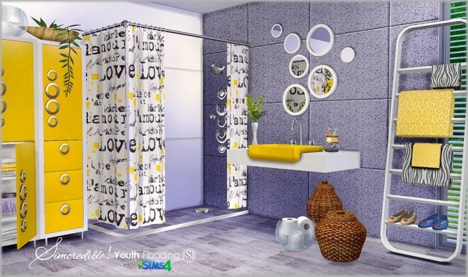 Youth Flooding bathroom at SIMcredible! Designs 4 image 1133 670x397 Sims 4 Updates