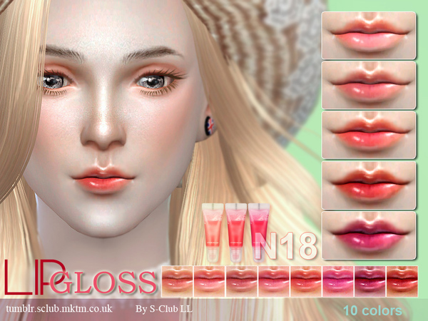 Sims 4 Lipstick F18 by S Club LL at TSR