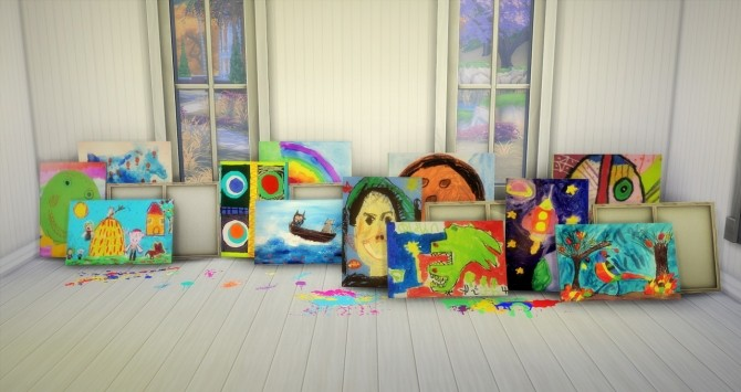 Sims 4 Art made by kids at Budgie2budgie