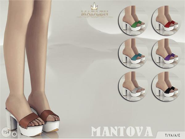 Sims 4 Madlen Mantova Shoes by MJ95 at TSR