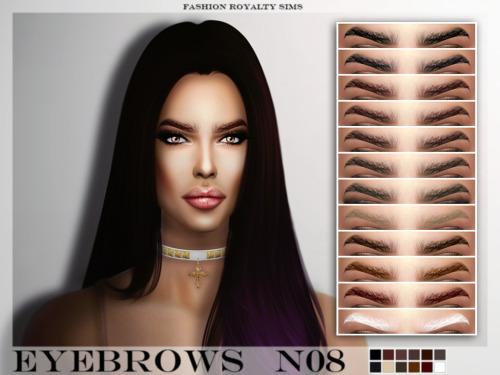 Sims 4 Eyebrows N08 at Fashion Royalty Sims