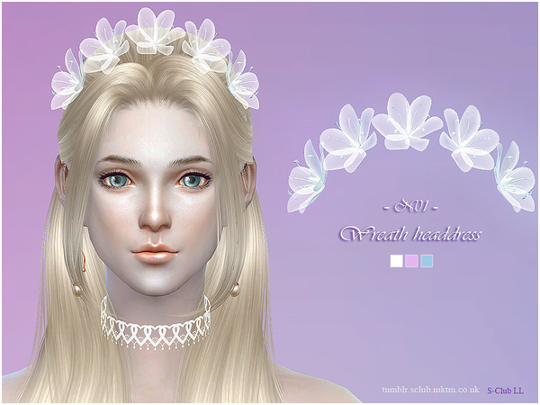 Wreath headdress 01 by S Club LL at TSR image 1160 Sims 4 Updates