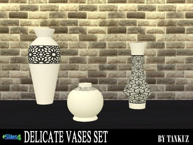 Sims 4 Delicate Vases Set at Tankuz Sims4
